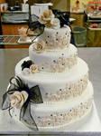 Buttons wedding cake