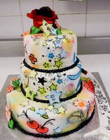 Tattoo cake side 1 by buttercreamfantasies