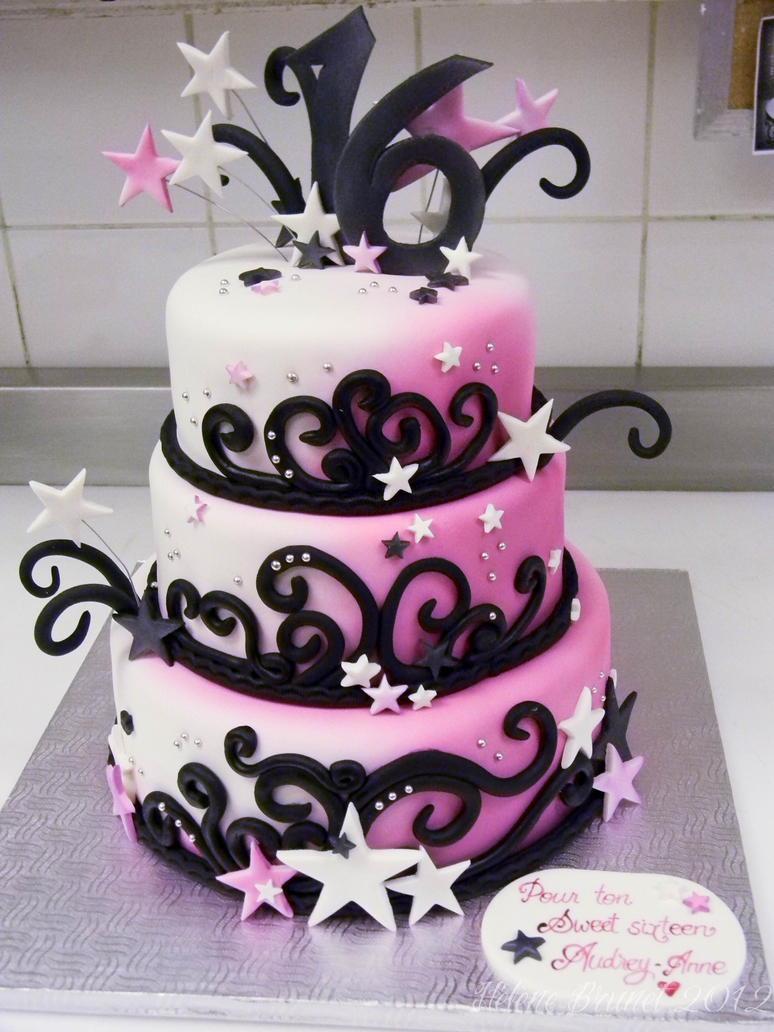 Cake Designs For Sweet Sixteen : Sweet 16 cake by buttercreamfantasies on DeviantArt