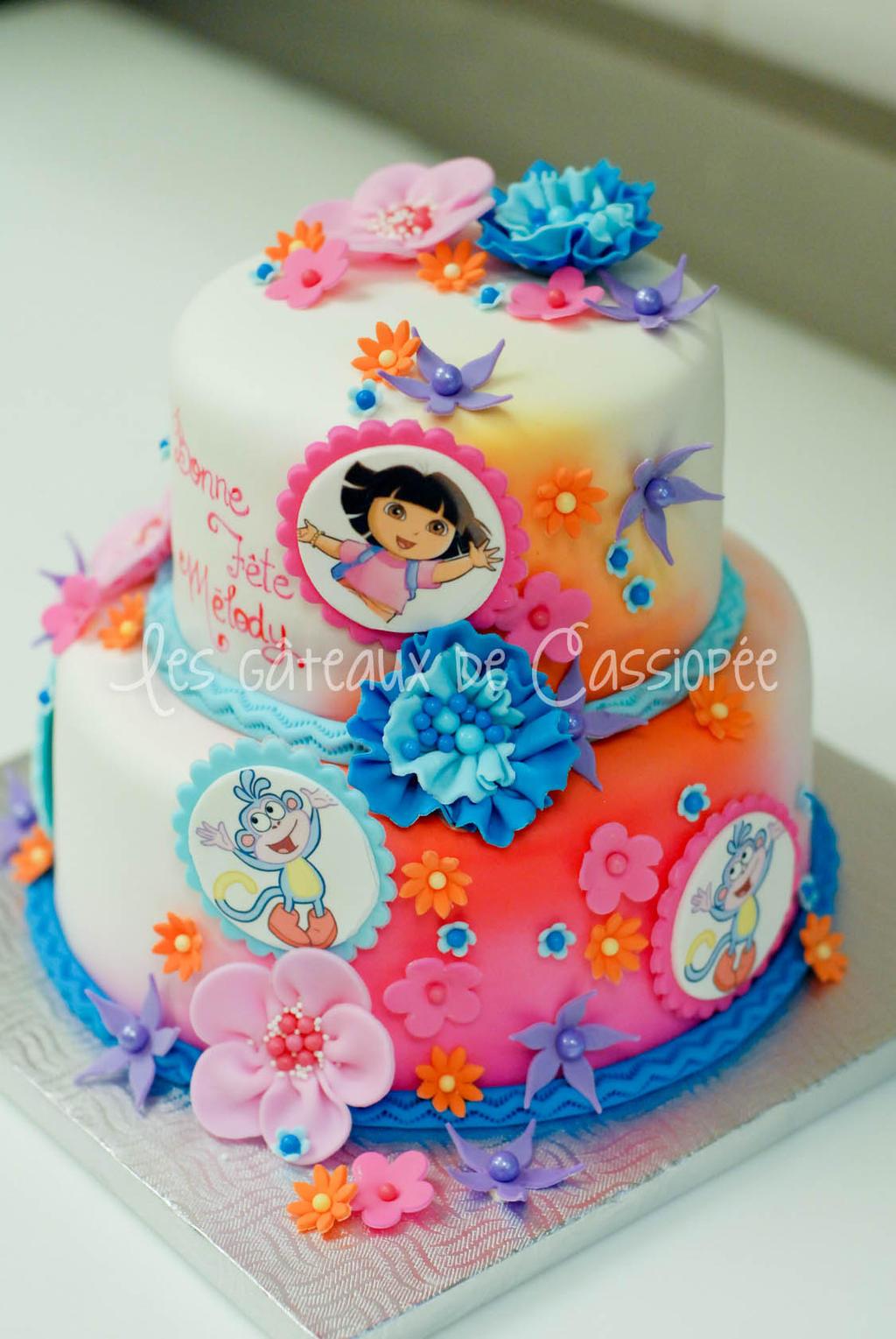Birthday Cake Girl  Dora