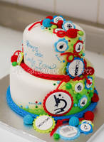 Science themed cake by buttercreamfantasies