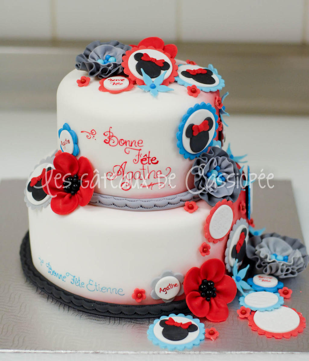 Minnie mouse themed cake by buttercreamfantasies