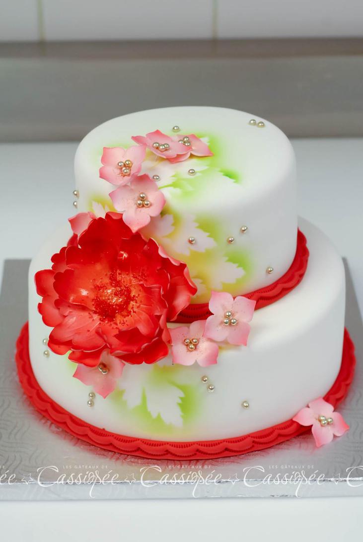 Fantasy flower cake by buttercreamfantasies