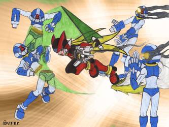 Megaman Zero battle scene by Sayne7