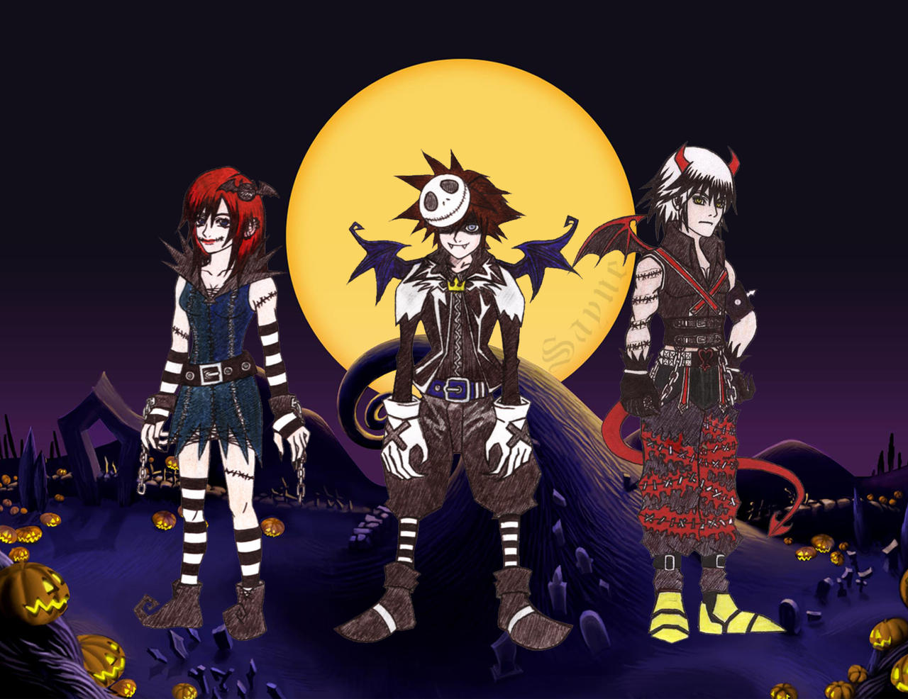 Kingdom hearts Halloween by Sayne7 on DeviantArt