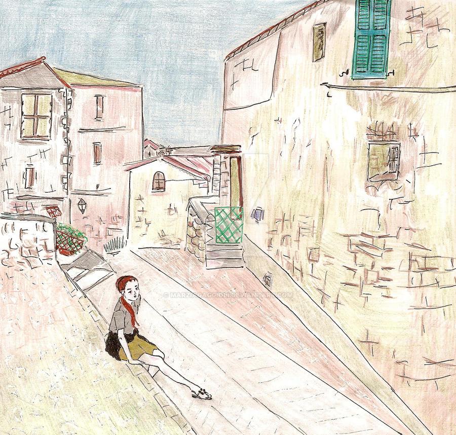 Alley in Monte Fumone (Italy) by MarziaGaggioli