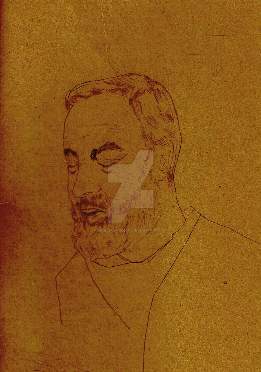 Padre Pio -  Pencil by MarziaGaggioli