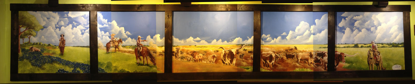 La Hacienda Ranch-Preston Trail Mural by acarabet