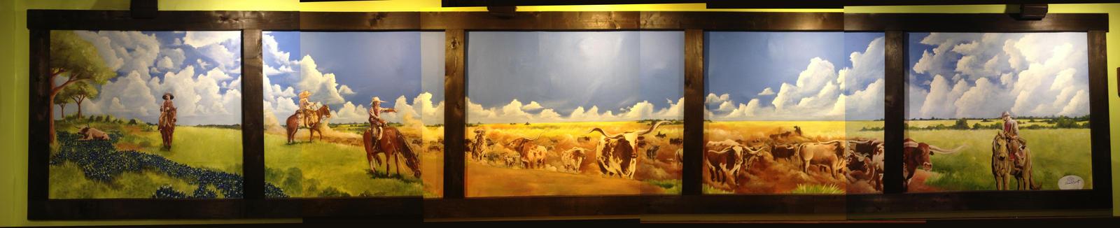 La Hacienda Ranch-Preston Trail Mural by acarabet