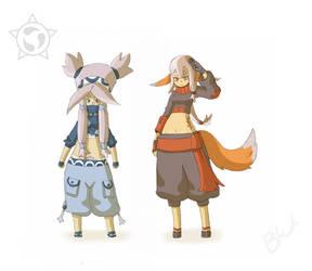 Toya et Moya by warobruno