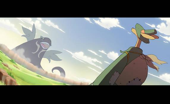 Groke vs Clemy by warobruno