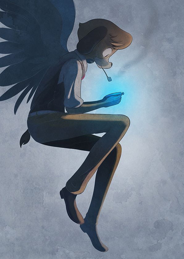 Charles Kiroho Illustration Angel by warobruno