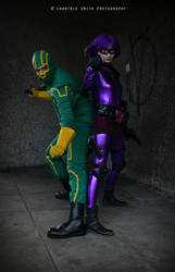Kick Ass and Hit Girl by charneh