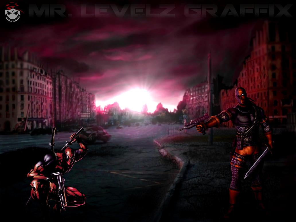VS Series Deadpool Vs Deathstroke By MrLevelzGraffix