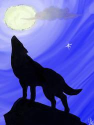 Wolf and Moon by tatsuyasaverem