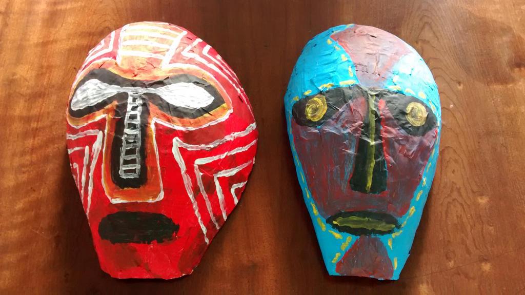 Mascaras Africanas de papel mache by Guspf