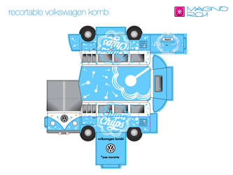 volkswagen kombi, recortable by magnoroi