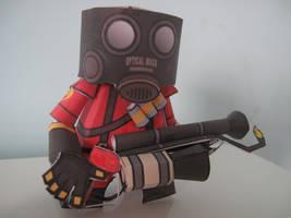 TF2 Pyro Papercraft by mirver
