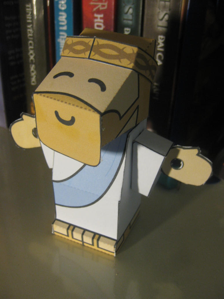 lord jesus christ papercraft by mirver on deviantart
