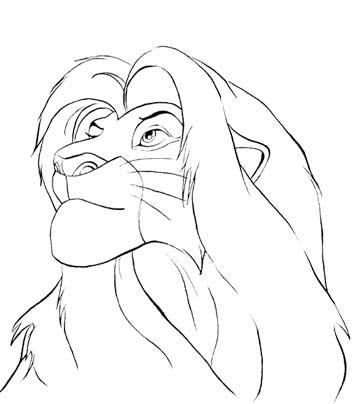 Simba Line art By Holly Toadstool On DeviantArt