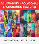 20 Polygonal Low Poly Background HQ Textures