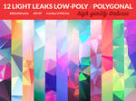 12 Light Leaks Low-Poly Polygonal Textures
