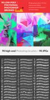 90 Low-Poly / Polygonal Photoshop Brushes Bundle