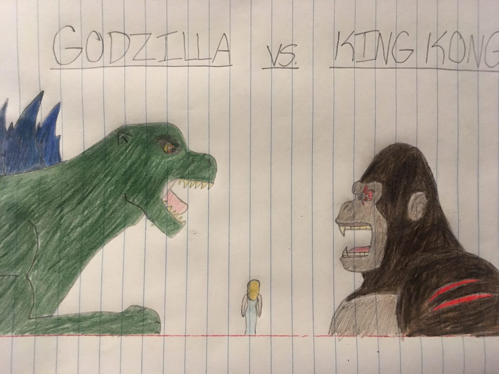godzilla vs king kong by animalofeden on deviantart