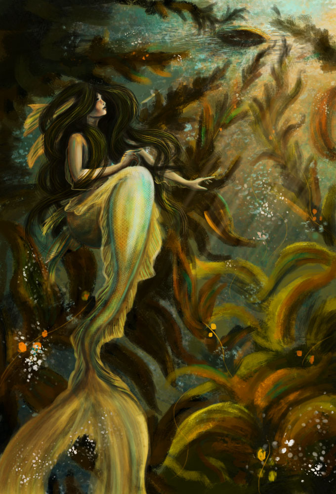 Mermaid In Kelp Forest by NotBySight1109