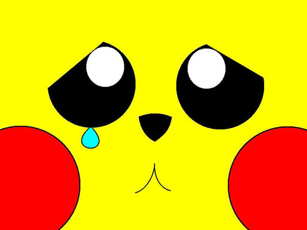 Pikachu's Wallpaper-Sad by MarioBlade64