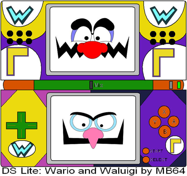 DS Lite Wario And Waluigi By MarioBlade64 On DeviantArt
