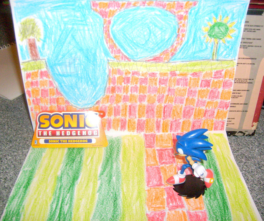 Sonic and Green Hill Zone by MarioBlade64