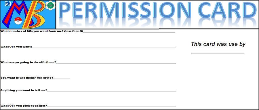 MB64's Permission Card