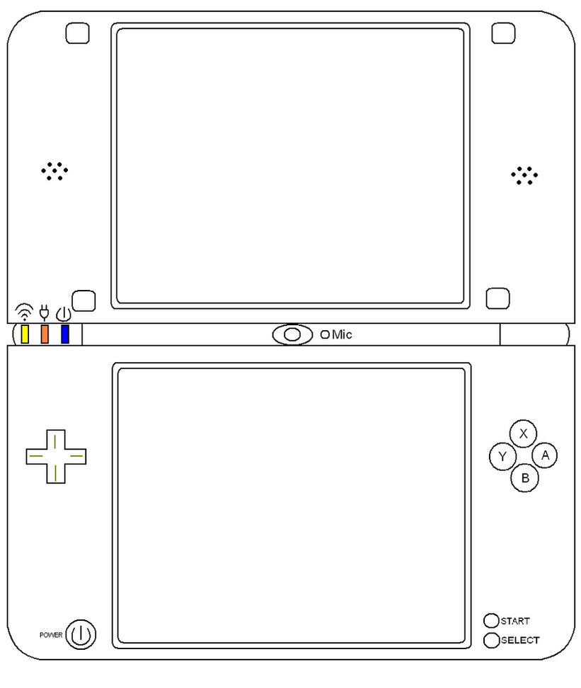Line Art Xl 2010 : Dsi xl out line by marioblade on deviantart