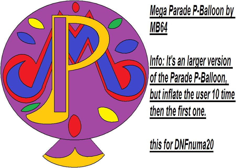 P Balloon: Mega Parade P-Balloon By MarioBlade64 On DeviantArt