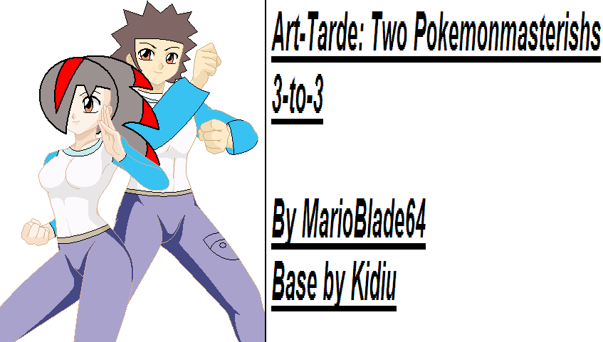 Two Pokemonmasterishs by MarioBlade64