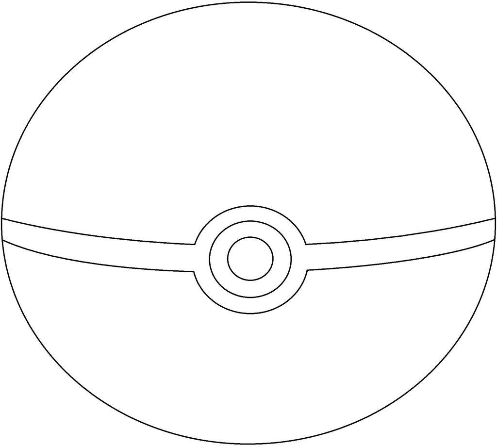 pokemon ball coloring page - pokemon ball outline the image kid has it