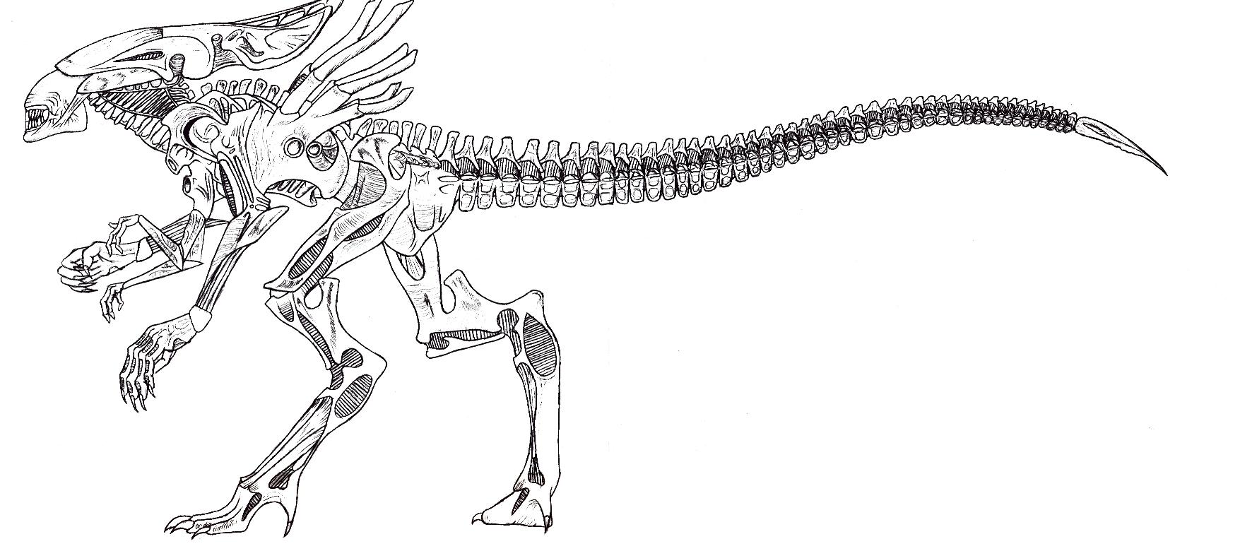FULL LENGTH Queen Alien by PsychoEvolution on DeviantArt