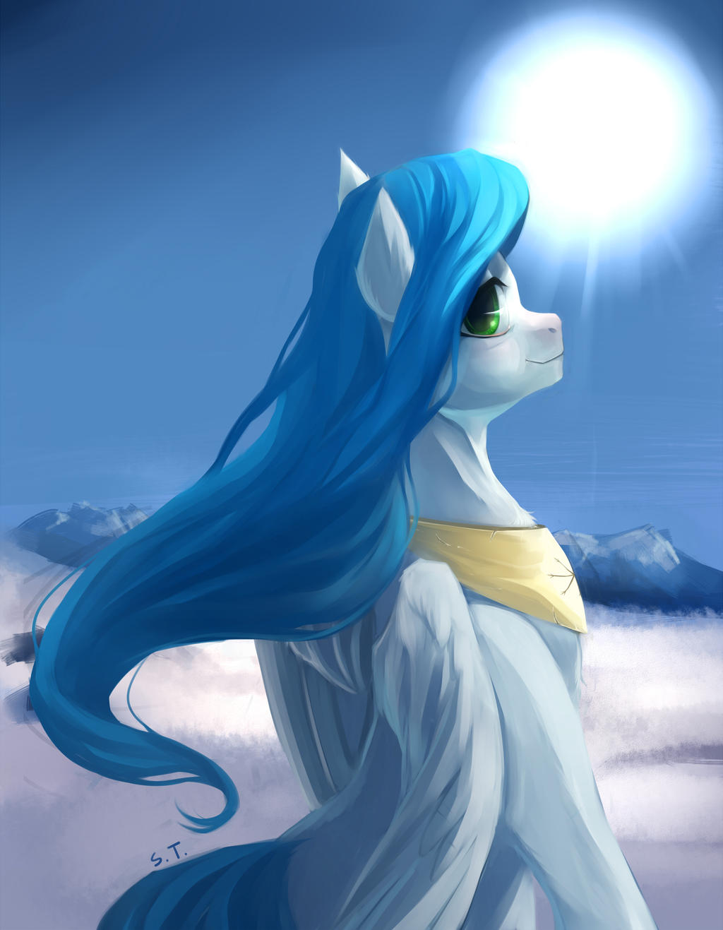 Commision - Snow Sky by SchnellenTod