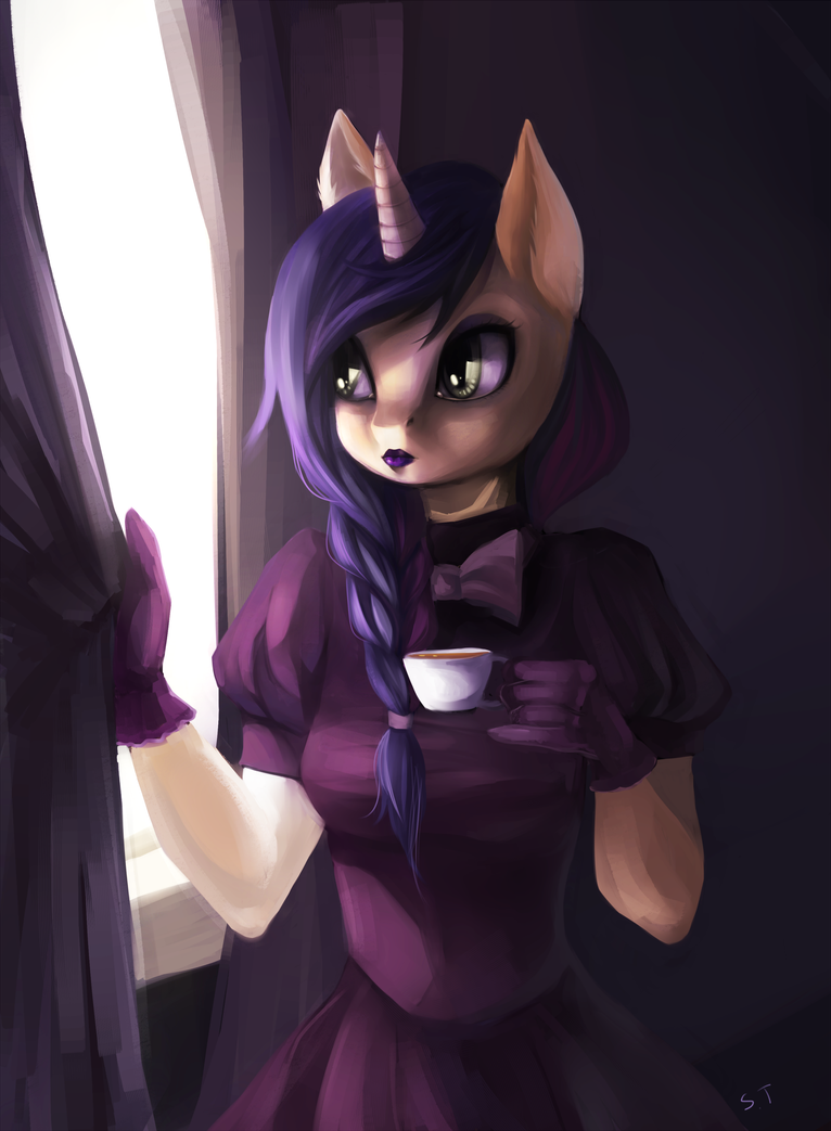 Commision - A cup of tea by SchnellenTod