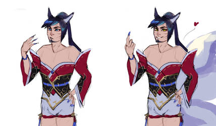 Male Ahri by SchnellenTod