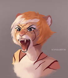 Angry Tiger Lady by SchnellenTod
