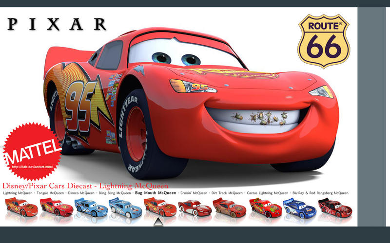 lightning mcqueen wallpaper. Lightning McQueen - Wallpaper by ~iFab on deviantART