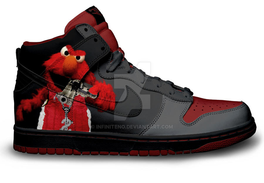Gangsta Elmo Dunks by Infiniteno on DeviantArt