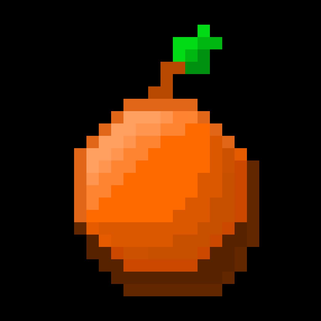 pixel art orange