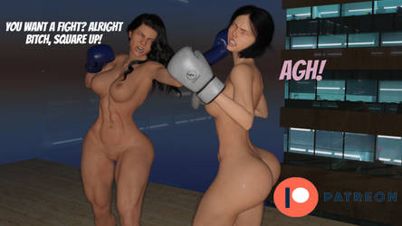 Aria vs Julie preview - Patreon Fight by Adrasko
