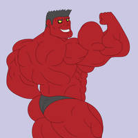 Red Hulk by C-Bara