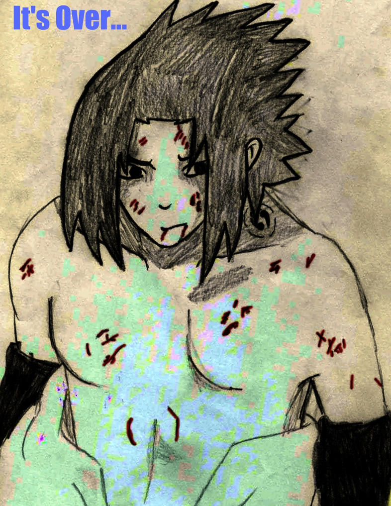 Sasuke Injured by Mangaman9999