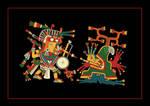 Tlahuizcalpantecuhtli killing a mountain (?) by ltiana355