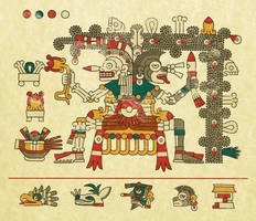 Codex Laud, folio 11 - Mictlantecuhtli by ltiana355